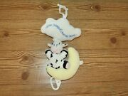 Vintage 1998 Kids Ii Cow Jumped Over The Moon Stuffed Plush Musical Pull Toy