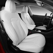 Xipoo Tesla Model 3 Seat Cover Nappa Leather Car Covers White