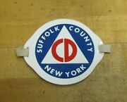 Suffolk County New York Civil Defense Old Armband Patch Cd Ny