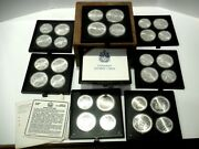 1976 Canada Olympic Silver Coins 28 Total 14 Pc. 5 And 14 Pc. 10 2