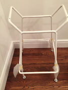 Knoll Harry Bertoia White Steel Wire Stool Base Counter Height Eames Mcm Modern