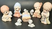 Precious Moments Nativity 9 Pc Porcelain Come Let Us Adore Him 810011 New In Box