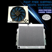 Radiator And Shroud And16 Fan For 63-69 Dodge Charger Coronet Dart Plymouth Fury V8