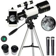 Astronomical Telescope 70mm Aperture 300mm Focal Length Tripod Outdoor Camping