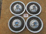 1967 Ford Mustang, Fairlane, Falcon 14 Wire Spinner Wheel Covers, Hubcaps Set4