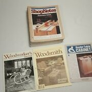 Lot Of 26 Shop Notes Magazine Including Issue 1 Woodworker's Journal And Woodsmith