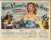 With A Song In My Heart Original Us Lobby Title Card Susan Hayward 1952