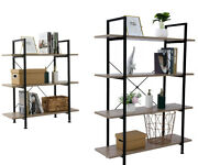 Industrial Bookcase And Book Shelves, Vintage Wood And Metal Bookshelves