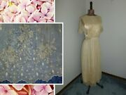 Antique Embroidered Net Lace Dress 1920s 1930s-flapper Vintage Wedding-to Finish
