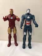 """Iron Man And Iron Patriot Or War Machine Action Figures Hasbro 2013- 12"""" Inches"""