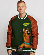 Scooby Doo Boys Antique Varsity Real Leather Jacket - New Arrival