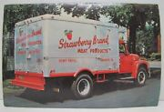 Strawberry Brand Meat Products Shamokin Pa Swab Wagon Co Old Advertising