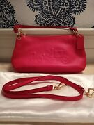 Coach Pink Leather Embossed Carriage Crossbody/satchel Design Nwot