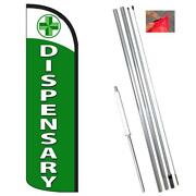 Dispensary Windless-style Feather Flag Bundle 14and039 Or Replacement Flag Only 11.5and039