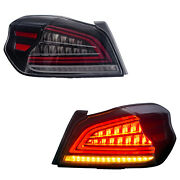 Customized Clear Led Tail Lights With Sequential Turn For 15-19 Subaru Wrx / Sti