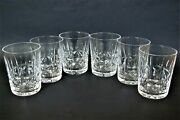 6 Vtg Waterford Crystal Kylemore Double Old Fashioned Glasses Discontinued Set