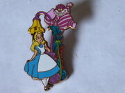 Disney Trading Pins 80282 Wdi - Lamppost Series 1 - Alice And Cheshire Cat