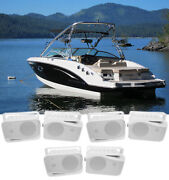 6 Rockville Hp4s 4 Marine Box Speakers With Swivel Bracket For Boats