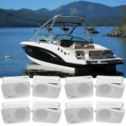8 Rockville Hp4s 4 Marine Box Speakers With Swivel Bracket For Boats