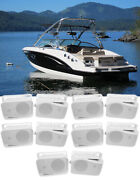 10 Rockville Hp4s 4 Marine Box Speakers With Swivel Bracket For Boats