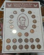 1934-1958 Wheat Penny Collection With Gold Plated 1934 Steel Penny