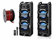 Technical Pro Dual 10 3000w Home Theater Bluetooth Speakers W/usb/sd/led+mic