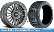 Rotiform Winter Alloy Wheels And Snow Tyres 19 For Jeep Compass [mk1] 06-16