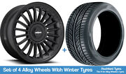 Rotiform Winter Alloy Wheels And Snow Tyres 19 For Toyota Camry [mk8] 17-20