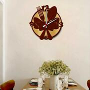 Fork And Spoon Vintage Home Decor Modern Wooden Wall Clock Best For Decor Gift