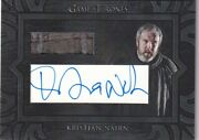 Game Of Thrones Inflexions Archive Cut Autograph Relic Card Kristian Nairn Hodor