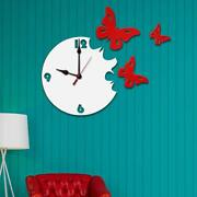 Butterfly Large Vintage Home Decor Modern Wooden Wall Clock Watch Best For Gift