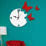 Butterfly Large Vintage Home Decor Modern Wooden Wall Clock Best Unique Gift