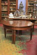 Table Directory Wooden Walnut, First From '800 / Table Round Nut