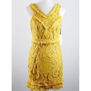 Ryse The Label Size M Mustard Yellow Lace Sheath Cocktail Dress Nwt