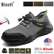 Men's Safety Shoes Steel Toe Caps Esd Work Boots Leather Indestructible Sneakers