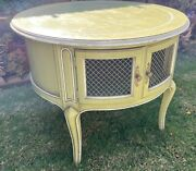 Vintage End Tables - French Provincial Drum Tables