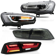 Free Shipping To Pr For 08-17 Lancer Spray Lacquer Headlights+smoked Taillights