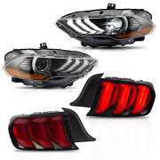 Free Shipping To Pr For 2018-2020 Mustang Full Led Headlights + Red Taillights