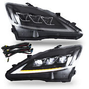 Free Shipping To Pr For 06-13 Is250/350 10-15 C/ C F 08-14 Is F Clear Headlights
