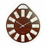 New Vintage Large Home Decor Modern Wooden Wall Clock Brown Watch Best For Gift