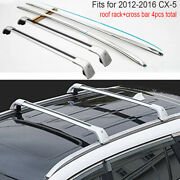Roof Rack Cross Bar Fits For Mazda Cx-5 Cx5 2012-2016 Luggage Carrier Bars 4pcs