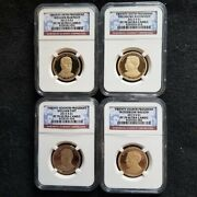 2013 S Presidential Dollar 4 Coin Proof Set Ngc Pf70 Ultra Cameo