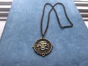 Disney Pirates Of The Caribbean Pirates League Medallion Chain Necklace 2014
