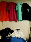 8-golf Shirts Large And X-large All New W/tags Greg Norman/ben Hogan/pga/polo Etc