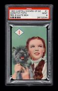 Psa 9 The Wizard Of Oz 1940 Castell Card 1 Red Number White Box Judy Garland