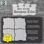 Dry Erase Dungeon Tiles, Set Of 36 Five-inch Interlocking Squares For And Games