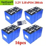 Lot 3.2v 280ah Lifepo4 Battery Pack Iron Phosphate Motorcycle Electric Car Solar