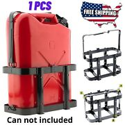 Jerry Can Holder Mount Gas Rack Fuel Gasoline Durable Military Metal 20l- 5 Gal