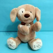 Baby Gund Spunky Animated Puppy Plush Animal Toy Sings Abc's Counts Works 10