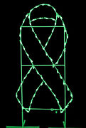 6' X 3' Green Awareness Ribbon Ground Mount Lit With Leds
